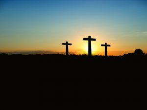An image of three crosses